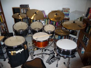 Jim Chappell's drum setup