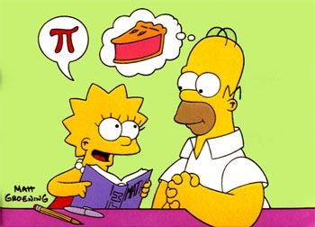 Lisa and Homer: π vs. pie