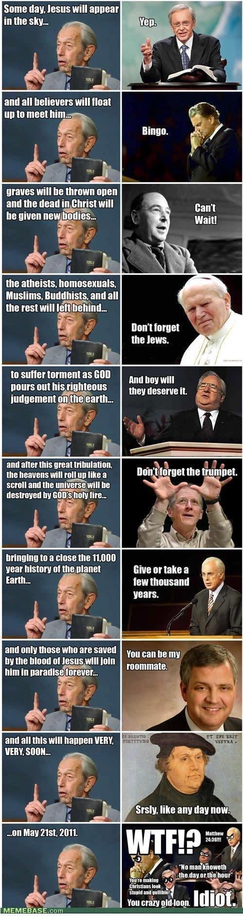 The Rapture is Stupid