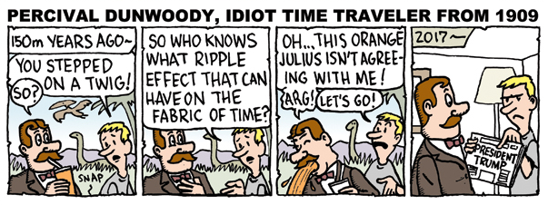 Percival Dunwoody, Idiot Time Traveler from 1909