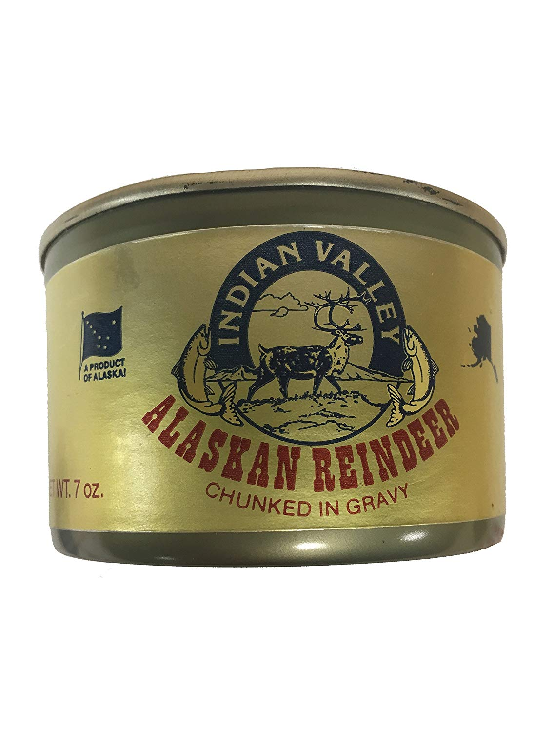 canned reindeer meat
