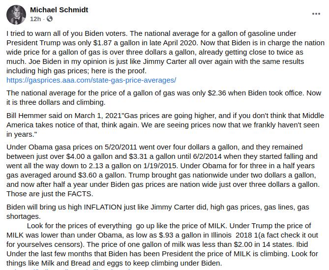 Michael E. Schmidt doesn't understand economics