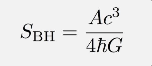 Bekenstein-Hawking formula