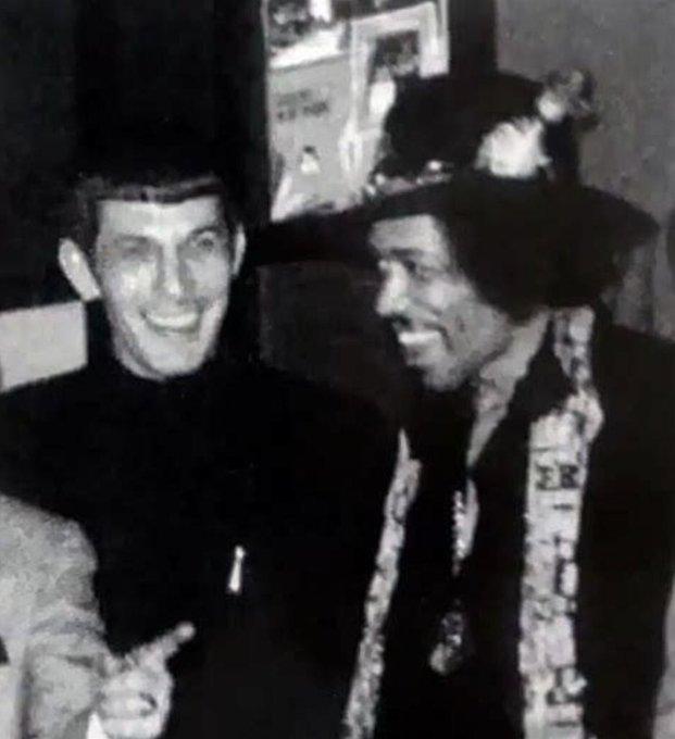 Leonard Nimoy  and Jimi Hendrix